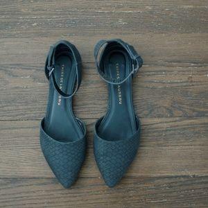 Black Flats w/ Ankle Strap